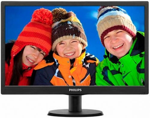 Monitor TN LED Philips 18.5inch 193V5LSB2/10, HD Ready (1366 x 768), VGA, 5 ms (Negru)