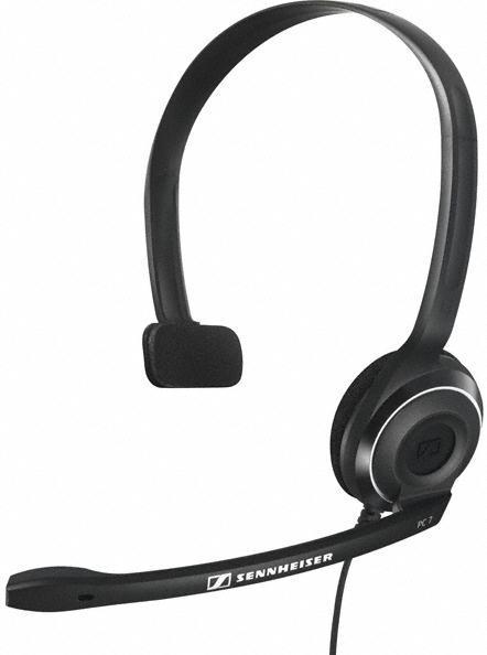 Casca cu Microfon Sennheiser PC 7-USB (Neagra)