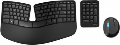 Kit Tastatura Microsoft si Mouse Sculpt Ergonomic (Negru)
