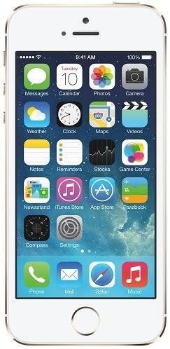 Telefon Mobil Apple iPhone 5S, Procesor Dual-core 1.3 GHz, LED-backlit IPS LCD 4inch, 1GB RAM, 16GB Flash, 8MP, Wi-Fi, 4G, iOS 7 (Auriu)