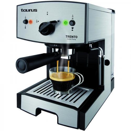 Espressor manual Taurus Trento, 1350W, 1.2l, 15 bari, Inox
