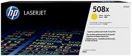 Toner HP LaserJet 508X, 9500 pagini (Galben XL)