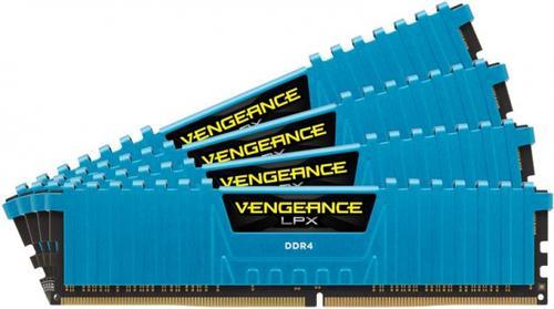 Memorii Corsair Vengeance LPX Blue DDR4, 4x8GB, 2666 MHz, CL 16