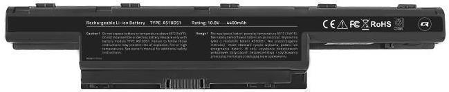 Baterie Laptop Qoltec Long Life 52500.AS10D31, Li-ion, 4400 mAh