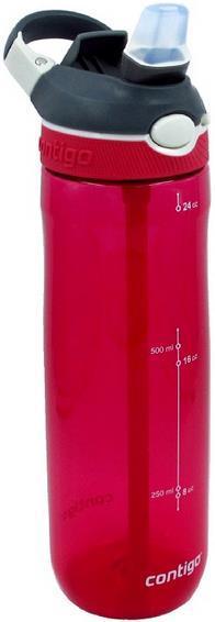 Sticla pentru apa cu dispensor Contigo Ashland, Rosu/Gri, 720ml