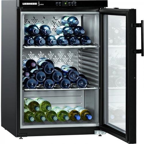 Vitrina frigorifica Liebherr Premium WKb 1812, 134 l, 3 rafturi, Negru