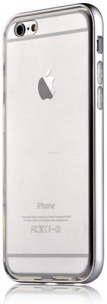 Protectie spate Devia Fresh Silver Silicon pentru iPhone 6/6S (Argintiu)