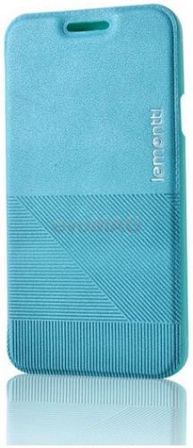 Husa Book cover Lemontti Jelly Linea pentru Samsung Galaxy A3 (Albastru)