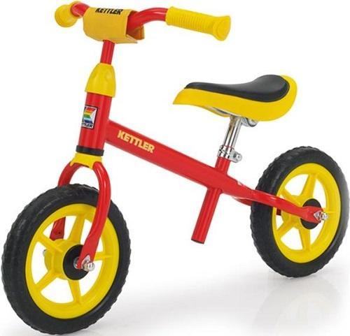 Bicicleta Kettler Speedy, fara pedale, Roti 10inch (Galben/Rosu)