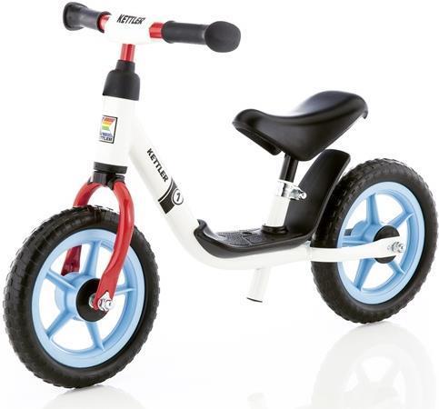 Bicicleta Kettler Run Boy, fara pedale, Roti 10inch (Alb/Rosu/Bleu)