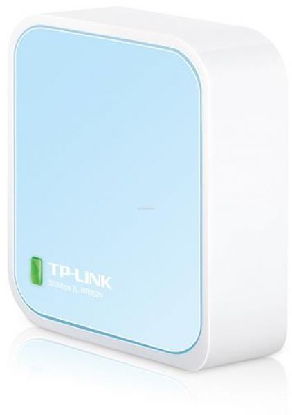 Router Wireless Nano TP-Link TL-WR802N, 300 Mbps, Antena interna