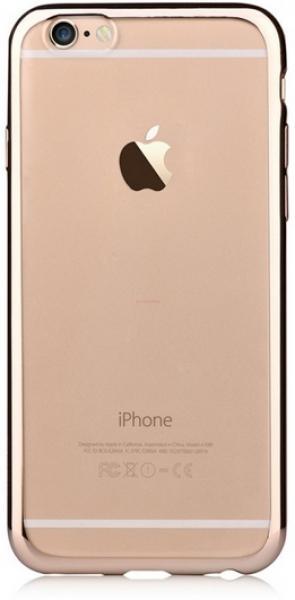 Protectie spate Devia DVGLTSFIPH6CG pentru iPhone 6 (Transparent/Auriu)