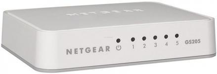 Switch Netgear GS205, Gigabit, 5 porturi, Plastic