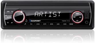 Radio MP3 player auto Blaupunkt Tokyo 110, USB, iluminare taste Alb/Rosu
