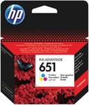 Cartus cerneala HP 651, acoperire aprox. 300 pagini (Tricolor)