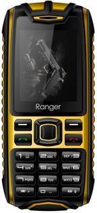 Telefon Mobil Evolio Ranger, LCD 2inch, Bluetooth, Rezistent la apa si praf (Negru/Galben)