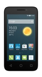 Telefon Mobil Alcatel Pixi 3, Procesor Dual-Core 1GHz, TFT Capacitive touchscreen 4inch, 512MB RAM, 4GB Flash, 3MP, 3G, Wi-Fi, Dual Sim, Android (Alb)