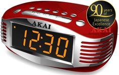 Radio cu ceas Akai CE-1500 (Rosu)