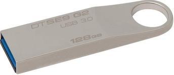 Stick USB Kingston Data Traveler SE9 G2, 128GB, USB 3.0 (Metalic)