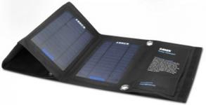 Incarcator Solar Anker 71ANSCPS-B145A, 2 USB, 14W, pliabil (Negru)