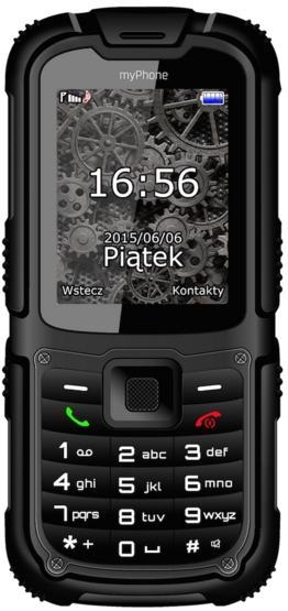 Telefon Mobil myPhone Hammer 2, 2MP, Dual Sim, Rezistent la apa si praf IP67 (Negru)