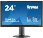 Monitor TN LED iiyama 23.6inch ProLite B2480HS-B2, Full HD (1920 x 1080), VGA, DVI-D, HDMI, 2ms, Boxe, Pivot (Negru)