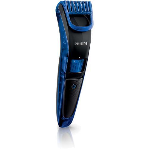 Aparat de tuns barba Philips Beardtrimmer series 3000 QT4002/15, 10 trepte (Albastru)