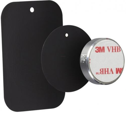 Suport auto telefon magnetic universal Kit HOLMAGSL, prindere de bord (Argintiu)