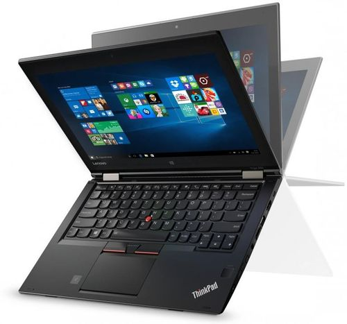 Laptop 2in1 Lenovo ThinkPad Yoga 260 (Procesor Intel® Core™ i7-6500U (4M Cache, up to 3.10 GHz), Skylake, 12.5inchFHD, Touch, 8GB, 256GB SSD, Intel® HD Graphics 520, Tastatura iluminata, Wireless AC, FPR, Win10 Pro 64)