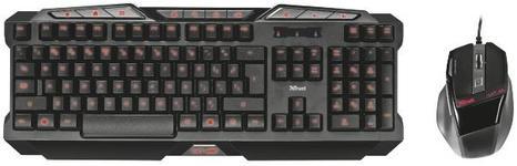 Kit Tastatura si Mouse Trust GTX 282 Combo (Negru)