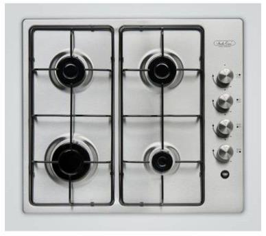 Plita incorporabila Studio Casa Mirage PG 60 Inox, 4 arzatoare gaz (Argintie)