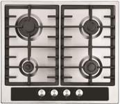 Plita incorporabila Studio Casa Duo Napoli, 4 arzatoare gaz, Aprindere Electrica (Argintiu/Negru)