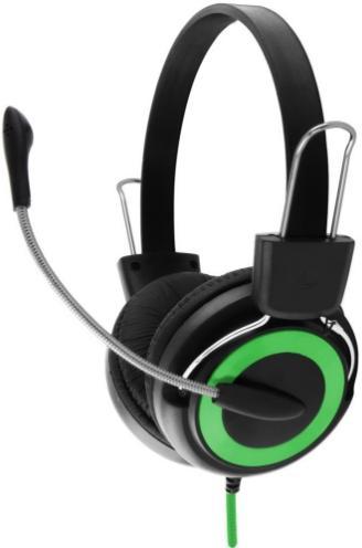 Casti Stereo ESPERANZA EH152G (Negru/Verde)