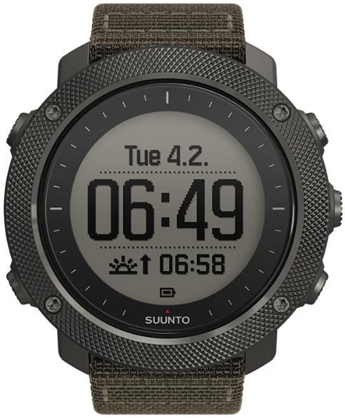 Ceas activity tracker outdoor Suunto Traverse Alpha Foliage SS022292000 (Negru/Verde)