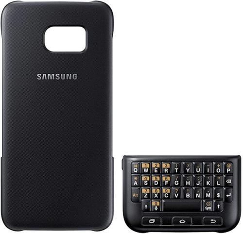 Husa Keyboard Cover Samsung EJ-CG930, Querty, pentru Samsung Galaxy S7 (Negru)