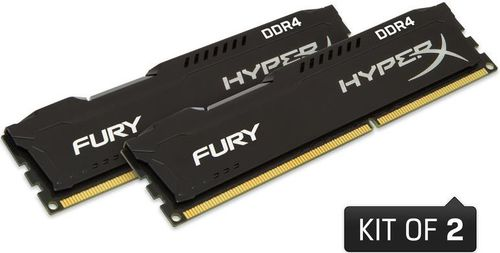 Memorii Kingston HyperX FURY Black Series DDR4, 2x8GB, 2400 MHz, CL 15, Single Rank