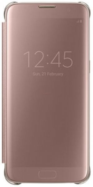Husa Clear View cover Samsung EF-ZG935CZEGWW pentru Samsung Galaxy S7 Edge (Rose Gold)