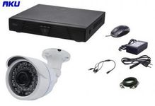 Kit Supraveghere Video AKU Ak9102, 1 camera interior/exterior 1200TVL, DVR 4 canale H264 + cablu
