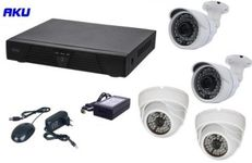 Kit Supraveghere Video AKU Ak9513F, 4 camere interior/exterior, 1MP, DVR 4 canale, Compresie H264 AHD