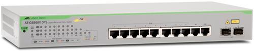 Switch Allied Telesis AT-GS950/10PS-50, Gigabit, 8 Porturi, PoE+