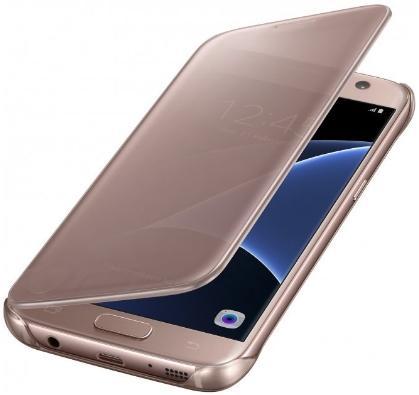 Husa Clear View Samsung EF-ZG930CZEGWW pentru Samsung Galaxy S7 (Rose Gold)