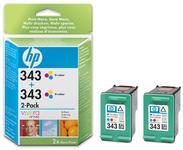 Cartus cerneala HP  343 (Color - pachet dublu)