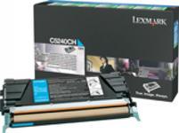 Toner Lexmark C5240CH (Cyan - de mare capacitate - program return)