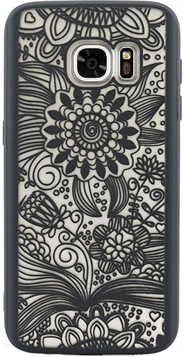 Protectie spate Yuppi Love Tech Spirit Natural pentru Samsung Galaxy S7 (Negru)