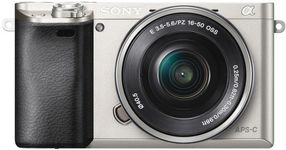 Aparat Foto Digital Sony Alpha A6000, cu obiectiv 16-50mm, 24.3 MP, Filmare Full HD, Zoom optic 3x (Argintiu)