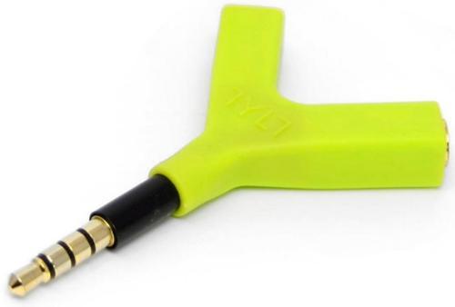 Adaptor Audio Tylt Y-SPLIT, 2x Jack 3.5mm (Verde) imagine 2021