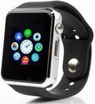 "Smartwatch Cronos A1, TFT LCD Capacitive touchscreen 1.54"", 2G, Bluetooth (Argintiu/Negru)"