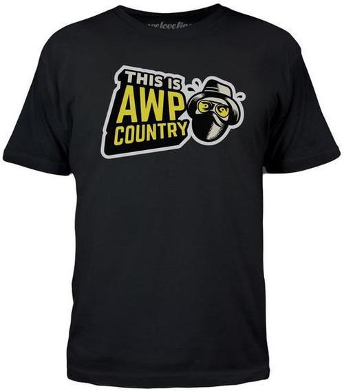 Tricou Counter Strike GO AWP Country, marime S (Negru)