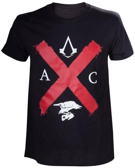 Tricou Assassins Creed Syndicate Rooks Edition, marime M (Negru)