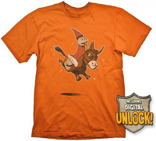 Tricou Dota 2 Wizard & Donkey, marime M (Portocaliu) + Ingame Code